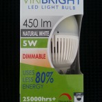 Viribright 5w Natural White LED Bayonet