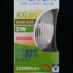 Viribright 5w Warm White LED Bayonet